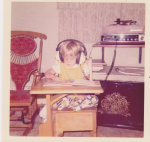 Me in the 70's lost in a book
