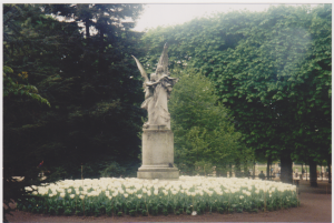 Angels in a park in Paris, France